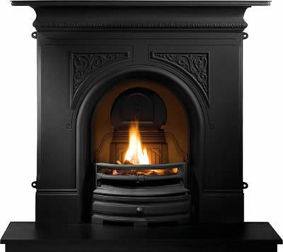 Pembroke Cast Iron Fireplace Combination - Black