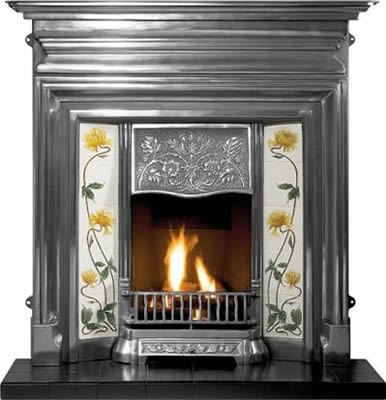 Edwardian Cast Iron Fireplace Combination