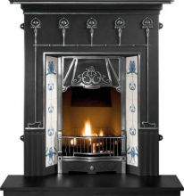 Amsterdam Cast Iron Fireplace Combination
