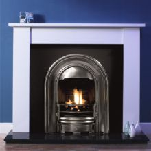 Oxford Marble Fireplace with Sutton Cast Iron Arch Insert
