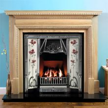 Regency Oak Fireplace with Toulouse Tiled Cast Iron