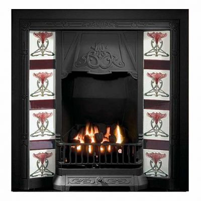 Toulouse Tiled Fireplace Insert
