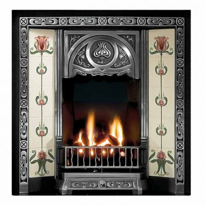 Tulip Tiled Fireplace Insert